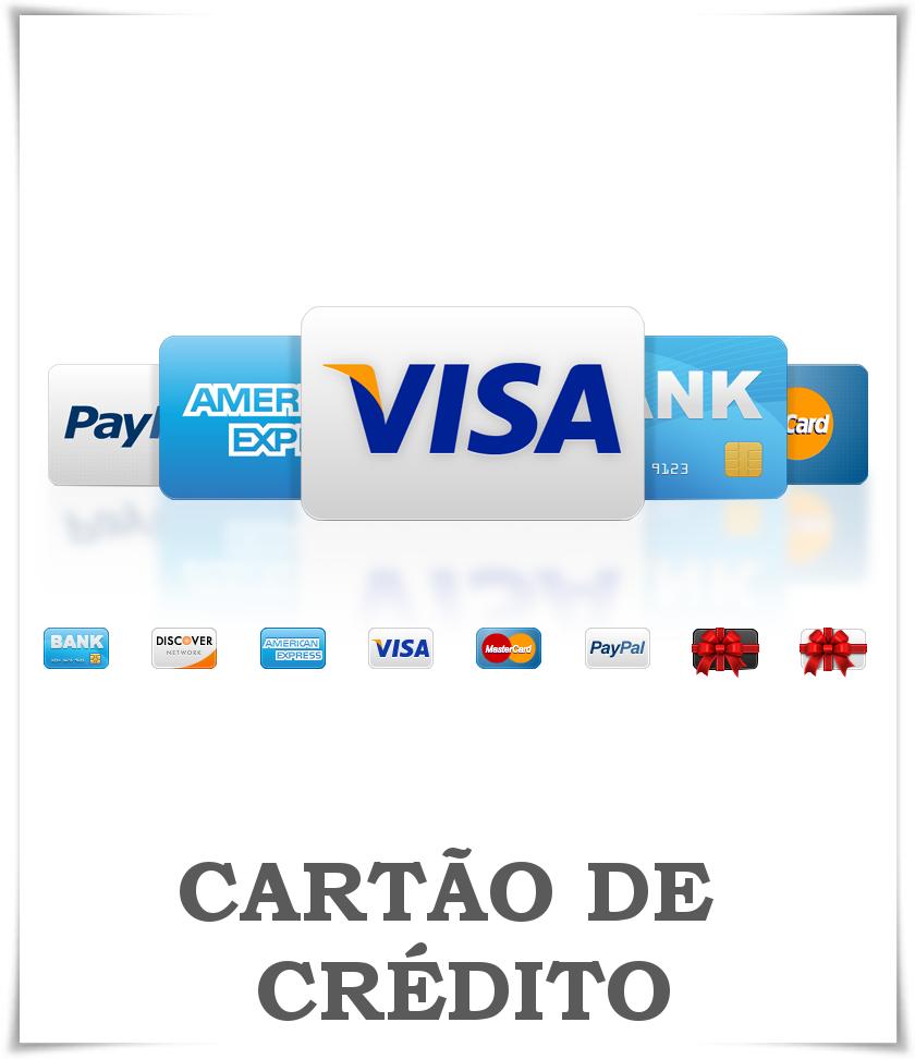CARTÃO DE CRÉDITOPara utilizar este meio de pagamento deverá seleccionar [Conta Paypal ou Cartão de Crédito] e em seguida escolher [Pagar com conta bancária ou cartão de crédito].Desta maneira não precisa de ter conta no Paypal e ainda assim poderá pagar com o seu cartão de crédito real ou virtual.O pagamento é recebido automaticamente por nós e a sua encomenda será processada de imediato.